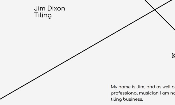Homepage of Jim Dixon Tiling with diagonal lines